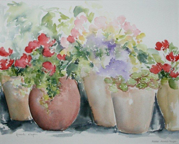 Vasques et Fleurs